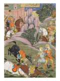 Shahnameh de Ferdowsi ou le Livre des Rois Bijane et Roham partent attaquer Firoud