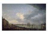 Première vue du port de Bordeaux  prise du côté des salinières