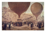 Départ de Gambetta pour Tours sur l'Armand-Barbès  le 7 octobre 1870  à Montmartre