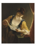 Jeune fille lisant une lettre