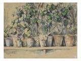 Les pots de fleurs Giclée par Paul Cézanne
