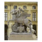 La Renommée à cheval sur Pégase