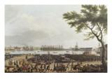 Première vue de Toulon  vue du pont-neuf prise à l'angle du parc d'artillerie