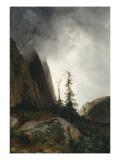 Route du Grimsel  canton de Berne dit aussi Un orage dans les montagnes