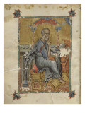 Byzantine Gospel: Page with St John the Evangelist