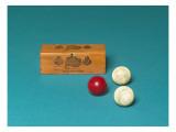 Billard de style Louis XVI avec deux crosses et un jeu de 3 boules en ivoire