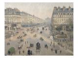 Avenue de l'Opéra  soleil  matinée d'hiver