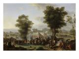 Bivouac de Napoléon Ier près du château d'Ebersberg  4 mai 1809