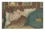 Au lit  dit aussi La femme au chat