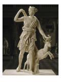 Artémis de Versailles  Diane chasseresse accompagnée d'une biche