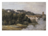 A la villa Farnèse : les maisons sur la colline