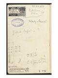 Carnet : annotations manuscrites et chiffrées