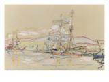 Bateaux dans le port d'Ajaccio