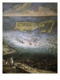 Siège de la citadelle de Saint-Martin dans l'île de Rhé  en 1625