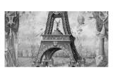 Image représentant les piliers de la Tour Eiffel en puzzle
