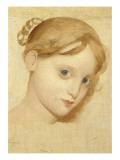 Tête de jeune fille blonde aux yeux bleus (Laure Zoega )