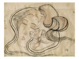 T&#234;te de femme au serpent