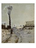 Chemin creux  effet de neige