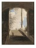 A la villa Farnèse : l'escalier