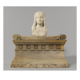 Buste antique sur sarcophage