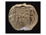 Bulle portant l'empreinte du sceau du prince Lugalanda: combat de héros et d'animaux