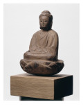 Buddha assis sur un lotus