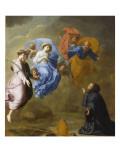 Apparition de la Vierge accompagnée de sainte Agnès et de sainte Thècle à saint Martin