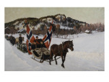 Enterrement d'un marin à la campagne en Norvège