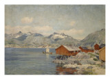 Maisons de p&#234;cheurs &#224; Svolvoer  Lofoden (Norv&#232;ge)