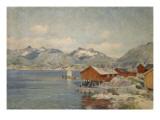 Maisons de pêcheurs à Svolvoer  Lofoden (Norvège)