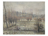 Gelée blanche  matin  dit aussi Effet de neige à Eragny
