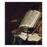 Livres et instrument de musique