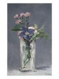 Oeillets et clématites dans un vase de cristal Giclée par Édouard Manet