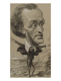 Caricature of Wagner  with a Huge Head on a Tiny Body