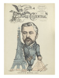 Caricature de Gustave Eiffel  parue dans &quot;le Central&quot;