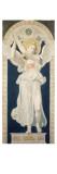 Carton pour les vitraux de la chapelle Saint-Ferdinand : saint Raphaël  archange