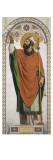 Carton pour les Vitraux de la chapelle Saint Louis à Dreux : Saint Rémi  évêque de Reims