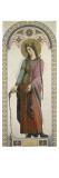 Carton pour les Vitraux de la chapelle Saint Louis à Dreux : Sainte Bathilde de Chelles