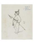 Caricature de Thomas Couture par lui-même au cours d'un repas en compagnie de MDugleré