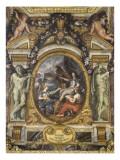 Plafond de la Galerie des Glaces : L'Ordre rétabli dans les finances