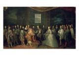 Entrevue de Louis XIV et de Philippe IV dans l'île des Faisans  le 7 juin 1660