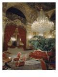 Vue intérieure Appartements de Napoléon III : Grand salon d'angle et Salon-Théâtre