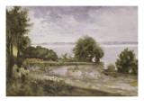 Paysage (Honfleur) ou Jardin de madame Aupick  mère de Baudelaire