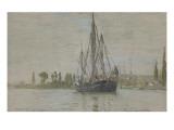 Chasse-marée à l'ancre  près de Rouen