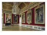 Vue intérieure : appartement de la Reine : antichambre du grand couvert de la Reine