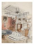 """Intérieur présenté comme une tente étude pour """"L'appartement du Comte de Mornay"""""""