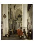 Intérieur de la Nieuwe Kerk de Delft avec le tombeau de Guillaume le Taciturne