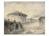 Dans le jardin de la Villa Roberti  au pied du temple de Vesta