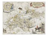 Carte chasseresse et mythologique de Brocéliande  forêt de Paimpont