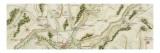 Plan de la route de Paris à Huningue par Troyes et Belfort